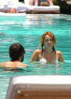 Miley Cyrus - Bikini - hotel pool in Miami-11