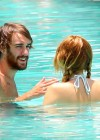 Miley Cyrus - Bikini - hotel pool in Miami-30