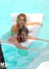 Miley Cyrus - Bikini - hotel pool in Miami-34