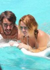 Miley Cyrus - Bikini - hotel pool in Miami-38