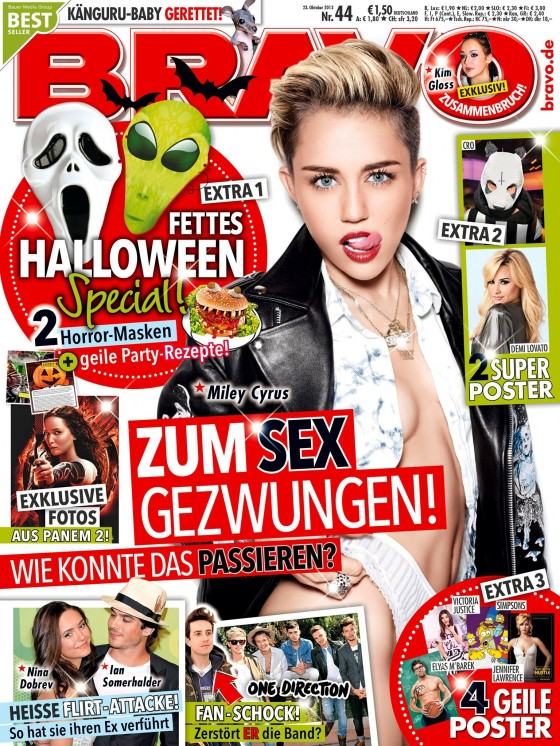 Miley Cyrus: Bravo Cover -01