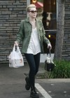 Miley Cyrus - Candids at Sharky's Woodfired Mexican Grill in Los Angeles