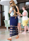 Miley Cyrus With her dog candids in Miami
