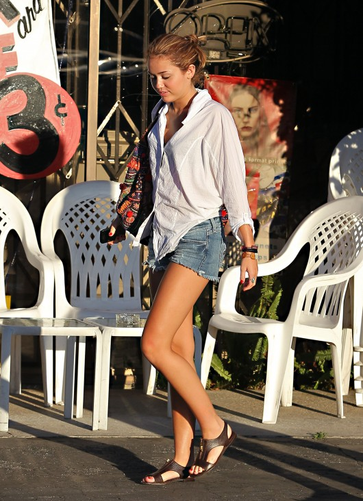 Miley Cyrus – Candids In  shorts in Studio City
