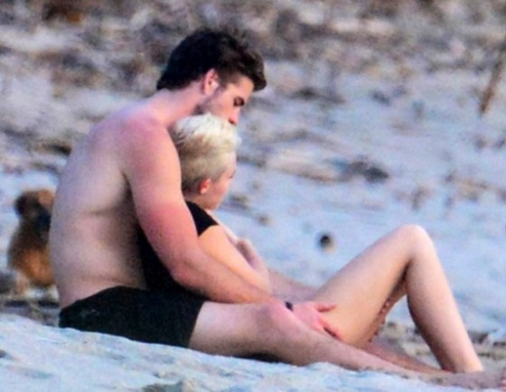 Miley Cyrus at Costa Rica Beach