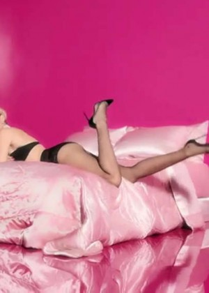 Miley Cyrus in Tights for Golden Lady Rock Your Legs 2014