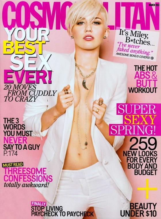 Miley Cyrus in Cosmopolitan 2013 -01