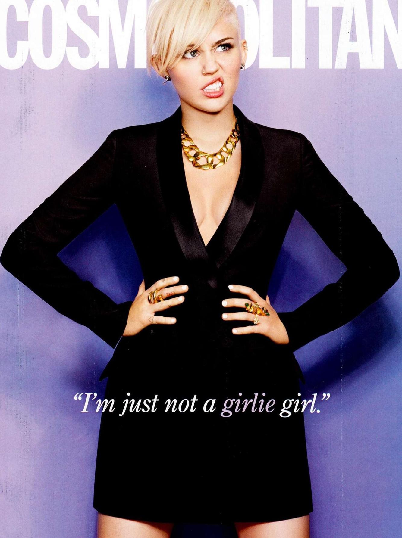 Miley Cyrus in Cosmopolitan Magazine (March 2013) issue
