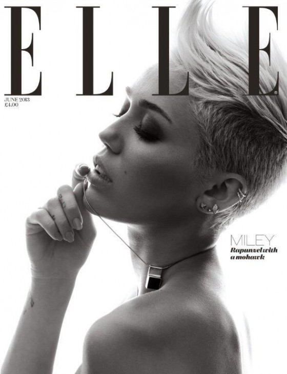 Miley Cyrus in Elle UK Magazine - June 2013 -02