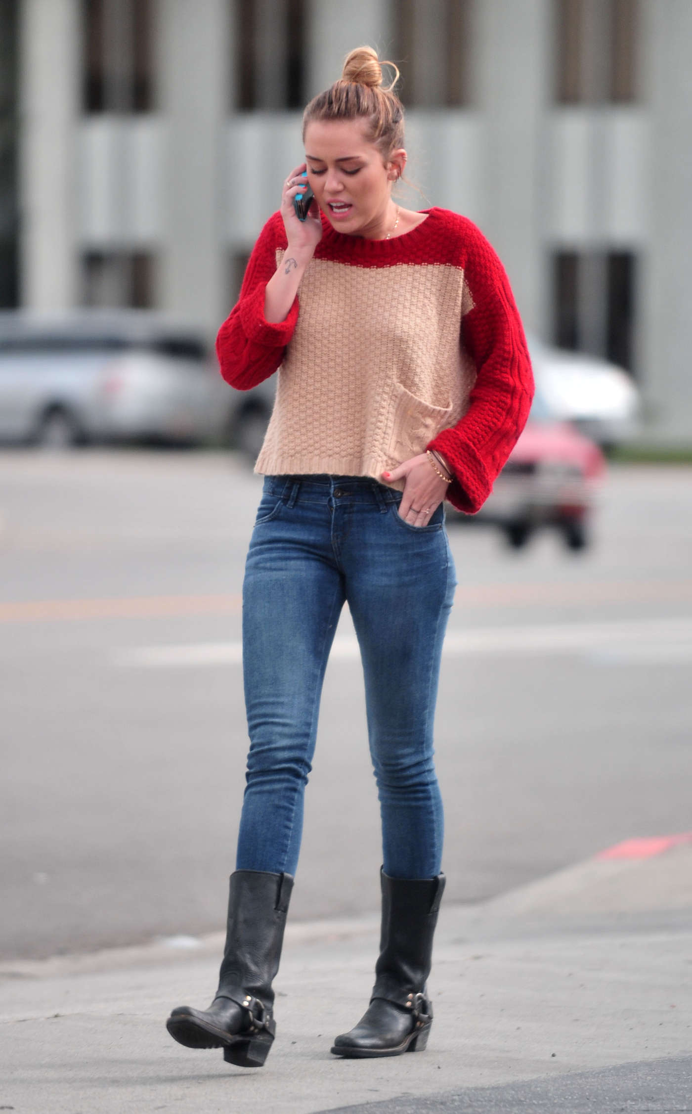 Back To Post Miley Cyrus In Jeans Cadids Toluca Lake