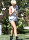 Miley Cyrus - In Short Jeans Shorts-15