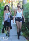 Miley Cyrus - leggy in a shorts at a Studio in Burbank-07
