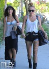 Miley Cyrus - leggy in a shorts at a Studio in Burbank-12