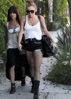 Miley Cyrus - leggy in a shorts at a Studio in Burbank-13