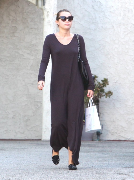 Miley Cyrus - Long Dress Candids-07