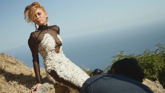 Miley Cyrus Video Caps of Her Marie Claire Photoshoot 2012