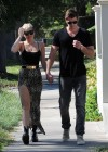 Miley Cyrus showing her legs out in Studio City