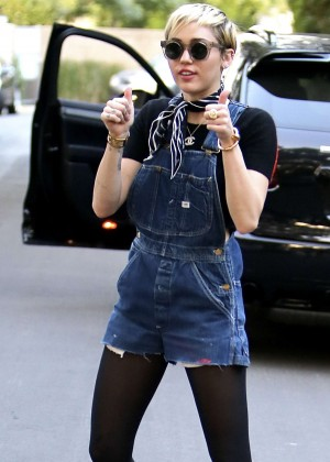 Miley Cyrus in Jeans Out in LA