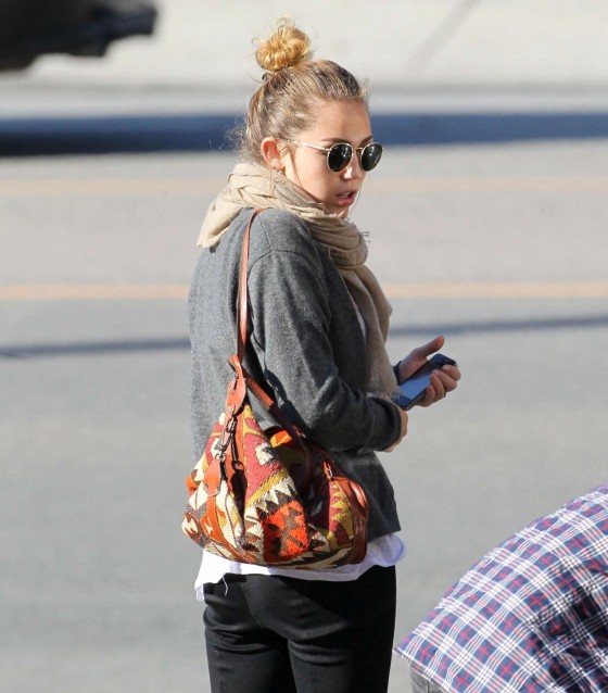 Miley Cyrus Candids in Studio City-09