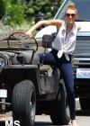 Miley Cyrus - out in Toluca Lake-11