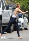Miley Cyrus - out in Toluca Lake-14