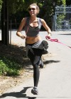 Miley Cyrus - Out with Her Dog for a Jogging-01