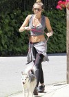Miley Cyrus - Out with Her Dog for a Jogging-03