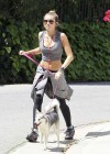 Miley Cyrus - Out with Her Dog for a Jogging-04