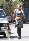 Miley Cyrus - Out with Her Dog for a Jogging-06