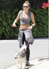 Miley Cyrus - Out with Her Dog for a Jogging-10