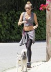 Miley Cyrus - Out with Her Dog for a Jogging-17