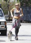 Miley Cyrus - Out with Her Dog for a Jogging-18