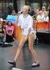 Miley Cyrus in White Shorts Performing on the Today show -01