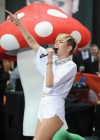 Miley Cyrus in White Shorts Performing on the Today show -02