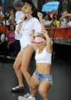 Miley Cyrus in White Shorts Performing on the Today show -03
