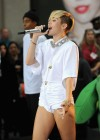 Miley Cyrus in White Shorts Performing on the Today show -06