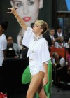 Miley Cyrus in White Shorts Performing on the Today show -07
