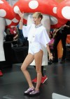 Miley Cyrus in White Shorts Performing on the Today show -08