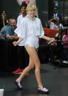Miley Cyrus in White Shorts Performing on the Today show -10