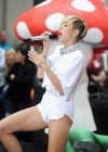 Miley Cyrus in White Shorts Performing on the Today show -11