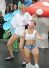 Miley Cyrus in White Shorts Performing on the Today show -13