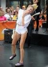 Miley Cyrus in White Shorts Performing on the Today show -14
