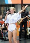 Miley Cyrus in White Shorts Performing on the Today show -17
