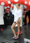 Miley Cyrus in White Shorts Performing on the Today show -18