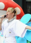 Miley Cyrus in White Shorts Performing on the Today show -20