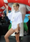 Miley Cyrus in White Shorts Performing on the Today show -23