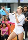 Miley Cyrus in White Shorts Performing on the Today show -31