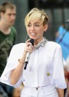 Miley Cyrus in White Shorts Performing on the Today show -32