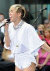 Miley Cyrus in White Shorts Performing on the Today show -33