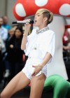 Miley Cyrus in White Shorts Performing on the Today show -38